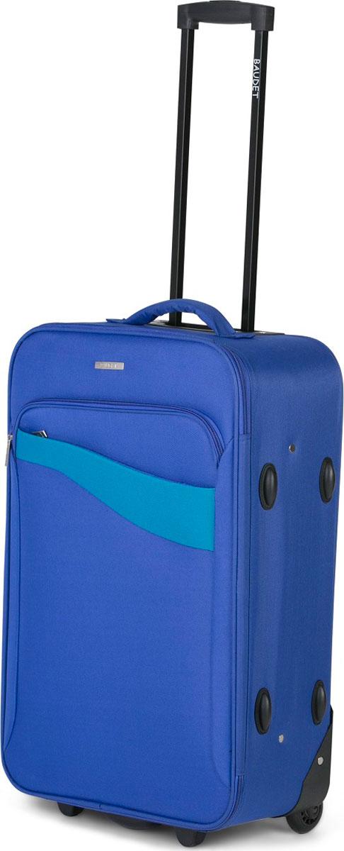 Чемодан Baudet, цвет: синий, 50 х 35 х 18,5 см, 31 л чемодан для ручной клади sunvoyage venice sv015 ac028 20