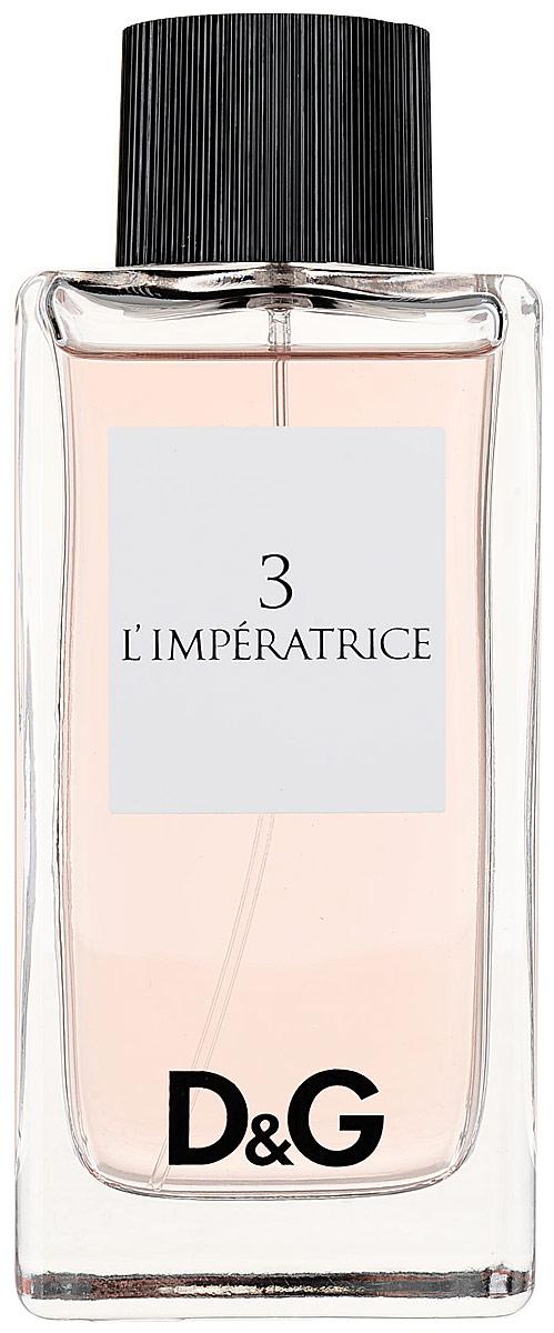 Dolce & Gabbana Туалетная вода 3 L'Imperatrice, женская, 100 мл