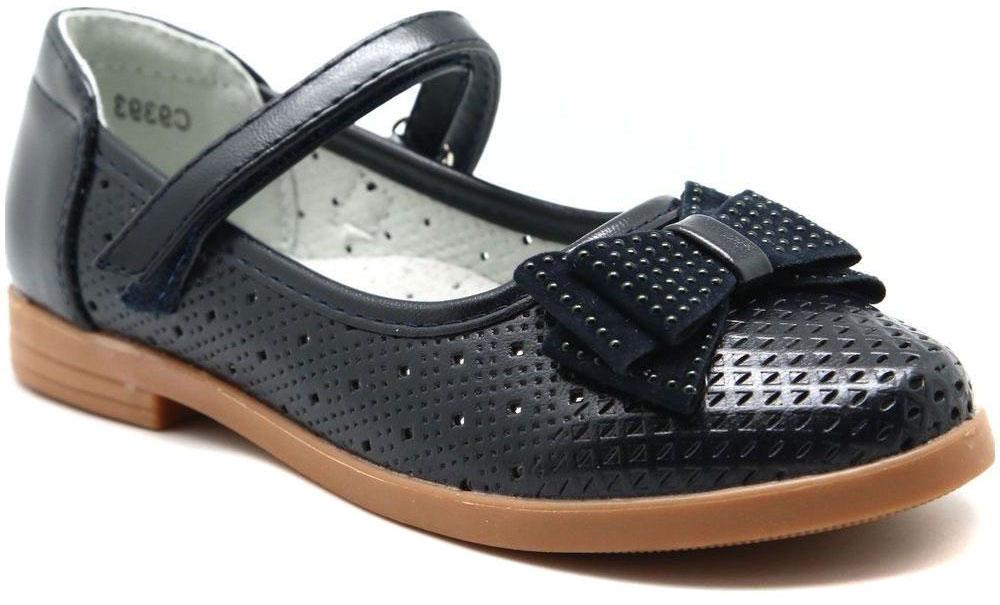 Туфли для девочки Капитошка, цвет: синий. C9393. Размер 29