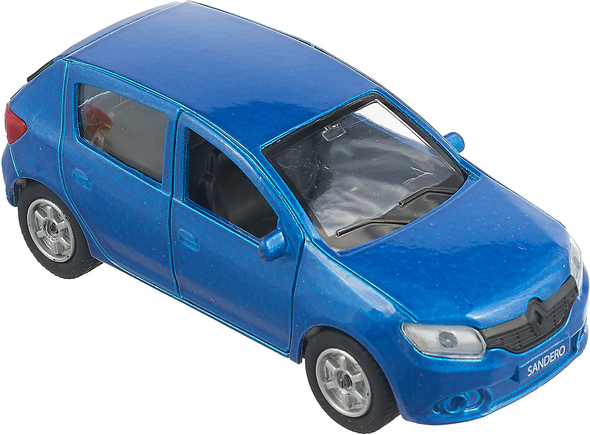 Технопарк Машинка инерционная Renault Sandero Микс цвет синий машинки технопарк машина технопарк металлическая инерционная bmw x6