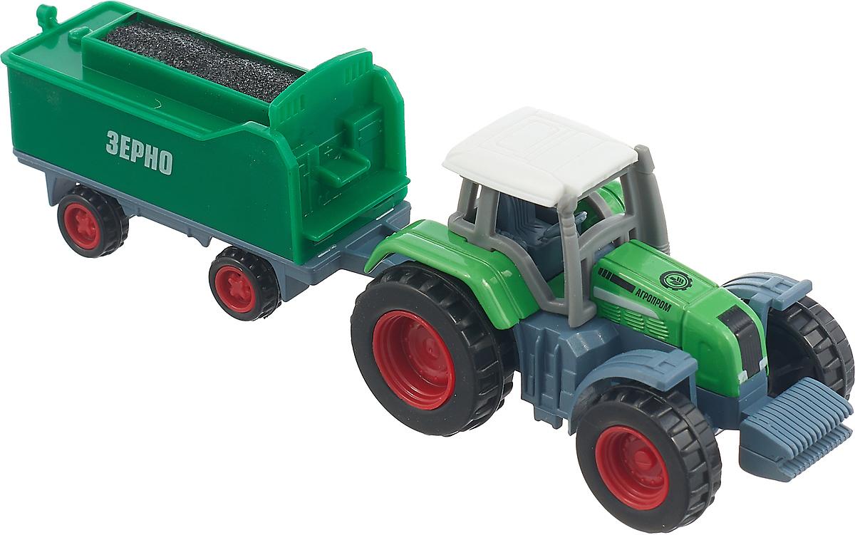 ТехноПарк Трактор с прицепом Зерно 1801C-1BCD-R трактор с прицепом св ход 36см dickie