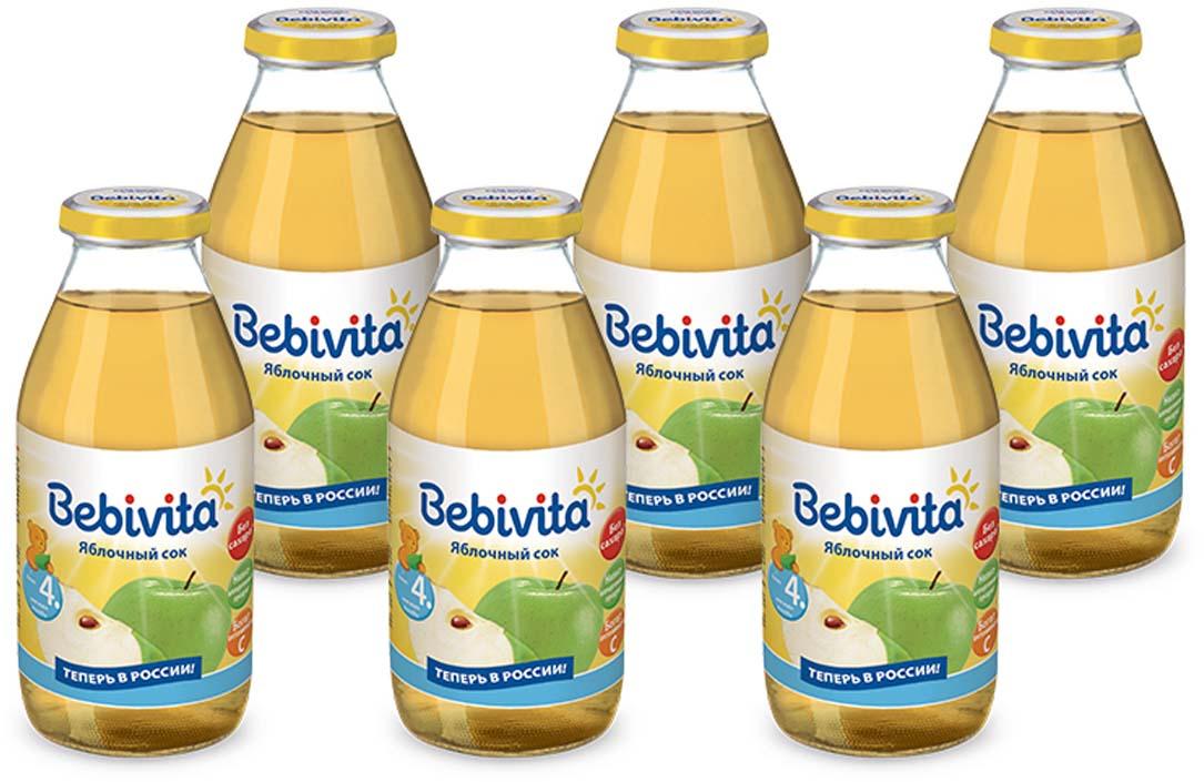 Bebivita сок яблочный восстановленный, осветленный, с витамином С, с 4 месяцев, 6 шт по 200 г mamba сочный центр жевательный мармелад 70 г