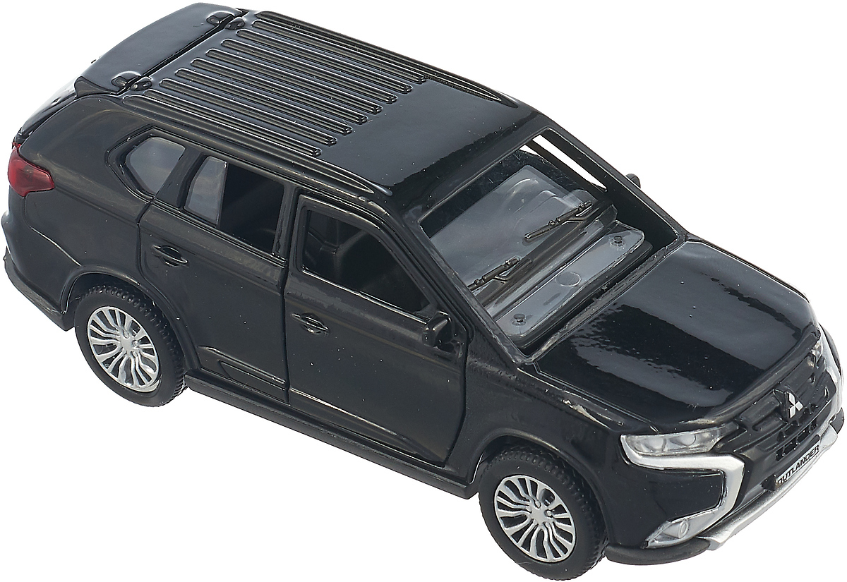 ТехноПарк Машинка инерционная Mitsubishi Outlander цвет черный технопарк машинка инерционная зил 130 аварийная служба