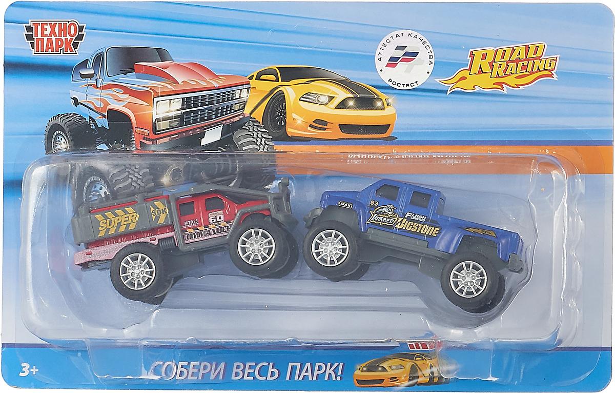 Технопарк Набор машинок инерционных Джипы цвет красный синий набор инерционных игрушек танки 6385 4