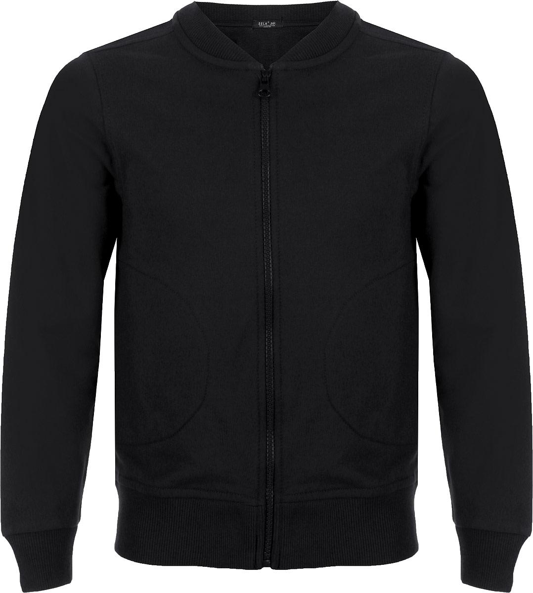 Фото Куртка для мальчика Sela, цвет: черный. Stc-813/182-8320. Размер 170