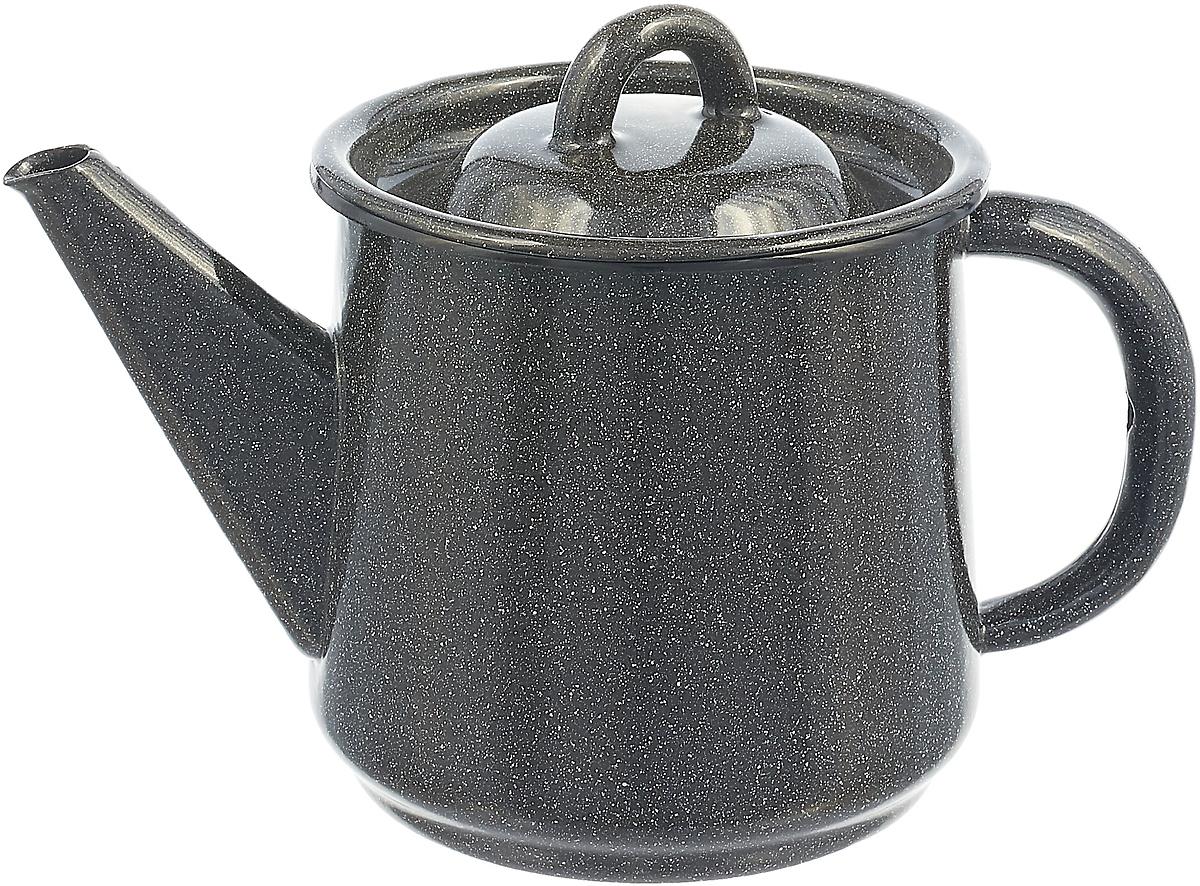 Чайник эмалированный СтальЭмаль, цвет: серый графит