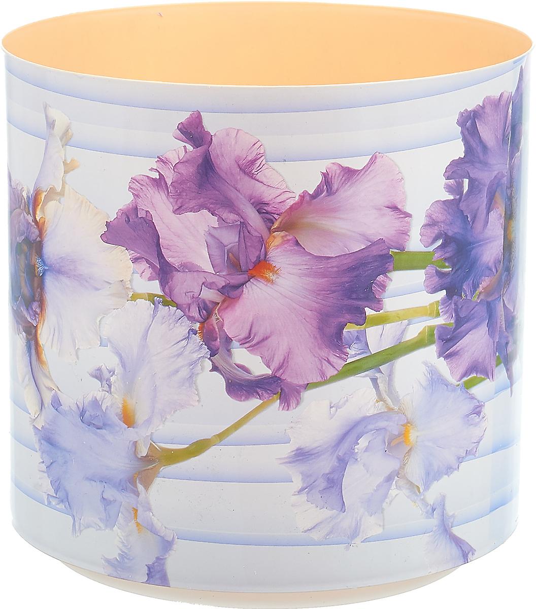Горшок для цветов Simple Garden Прованс. Ирис, со скрытым поддоном, цвет: сиреневый, 5,1 л цена