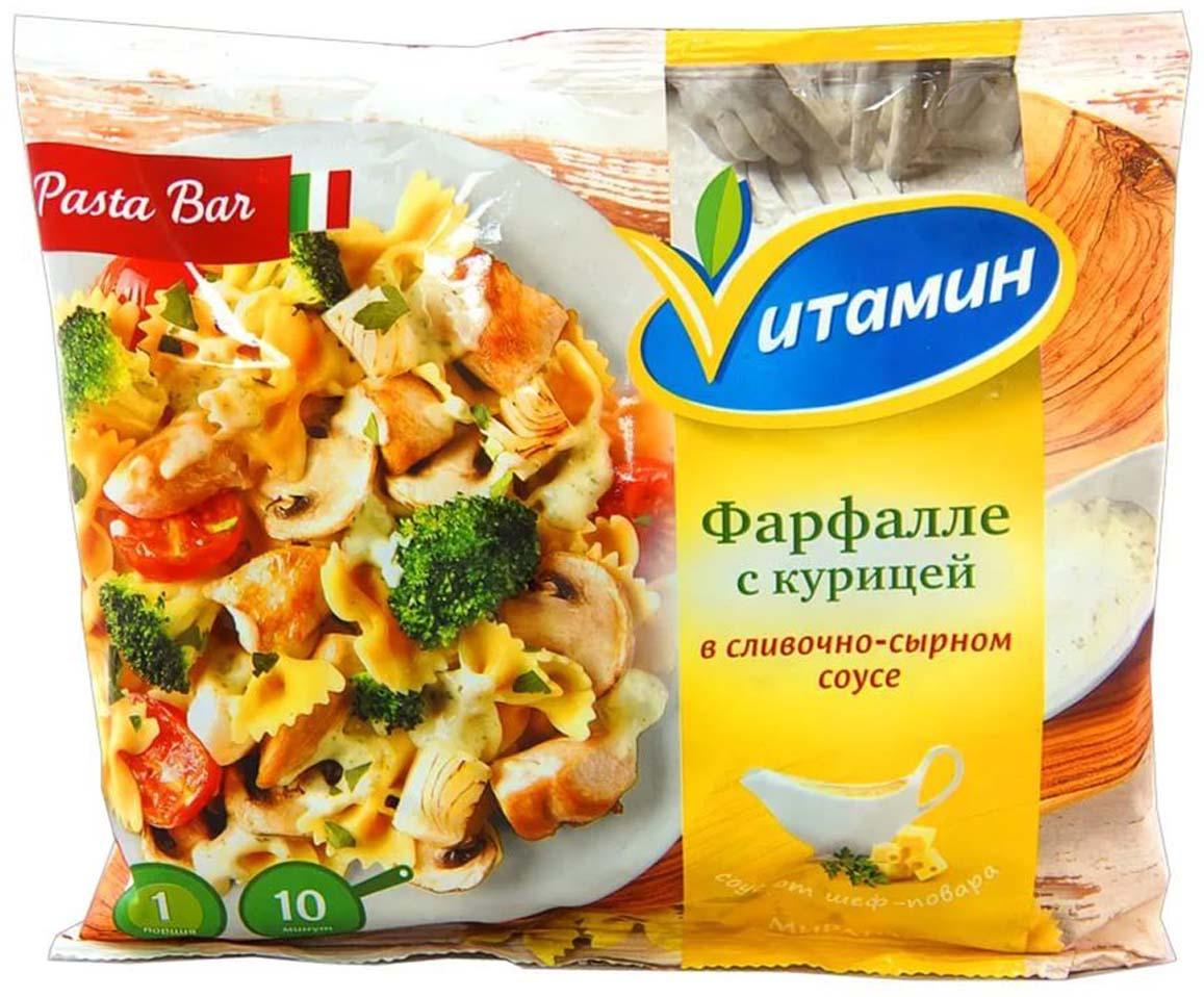 Фарфалле с курицей в сливочном соусе Vитамин, 400 г semper паста итальянская с форелью в сливочном соусе с 11 месяцев 190 г