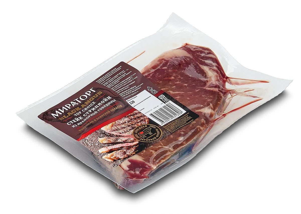 Стейк Стриплойн из мраморной говядины Top Choice Black Angus Мираторг, 320 г black choker sleeveless crop top
