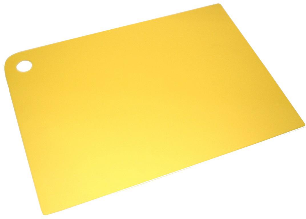 Гибкая разделочная доска, изготовленная из высококачественного полиэтилена, который обеспечивает их прочность и легкость. Нарезанные продукты удобно высыпать в кастрюлю или на сковородку. Текстура поверхности предотвращает образование царапин и скольжение.