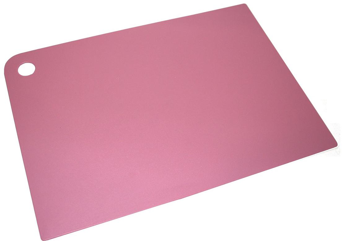 """Доска разделочная Plast Team """"Grosten"""", цвет: пурпурный, 34,5 х 24,5 х 0,2 см"""