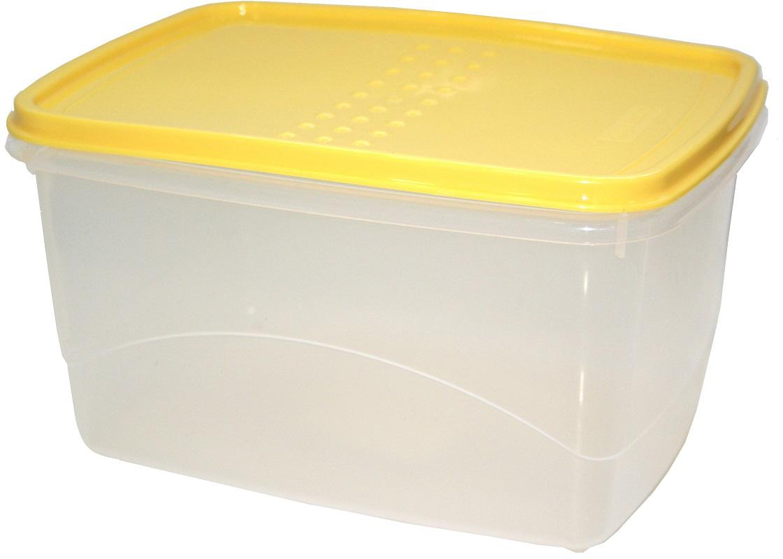 """Емкость для хранения пищевых продуктов Plast Team """"Pattern Flex"""", цвет: охровый, 2,3 л"""