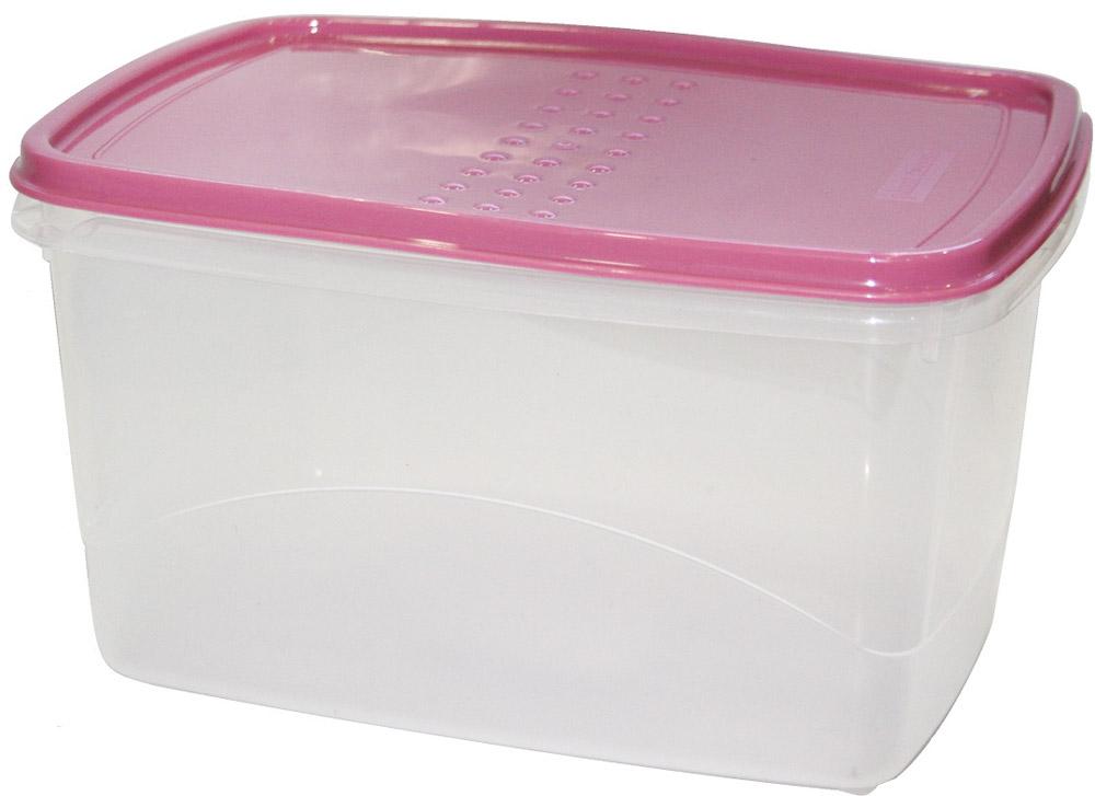 """Емкость для хранения пищевых продуктов Plast Team """"Pattern Flex"""", цвет: пурпурный, 2,3 л"""