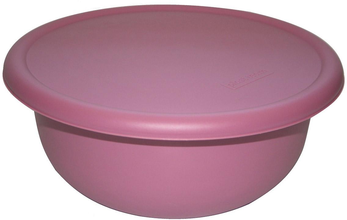 Миска Plast Team, с крышкой, цвет: пурпурный, 2,1 л миска plast team цвет лайм с крышкой 3 2 л
