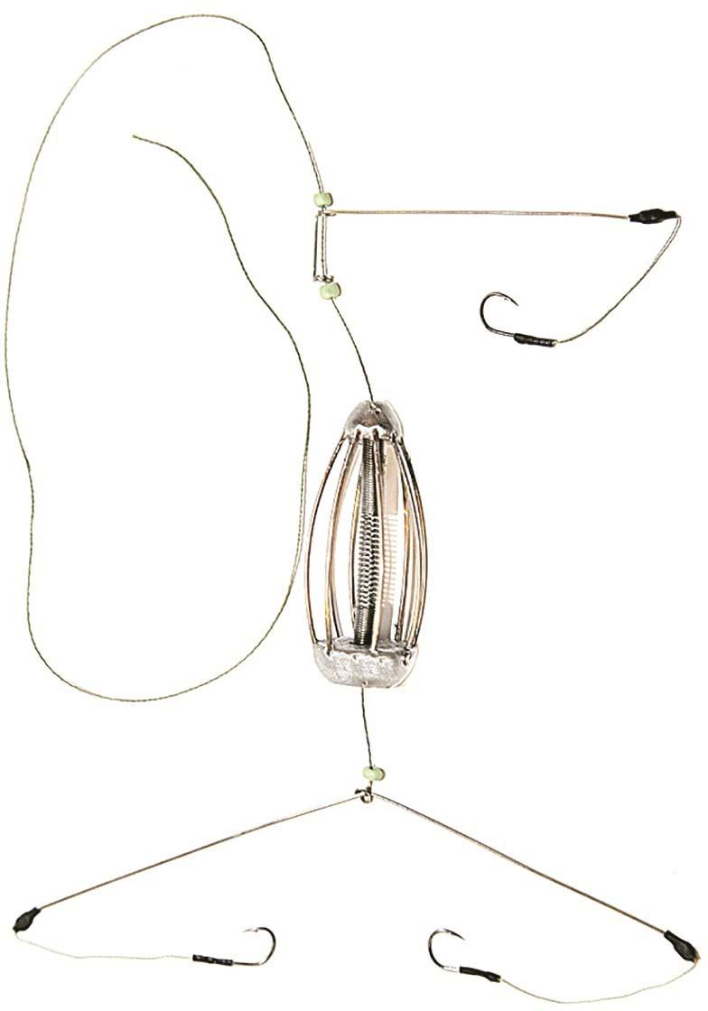 Кормушка для рыбы Монтаж К-3, оснащенная коромыслом и отводом, 50 г