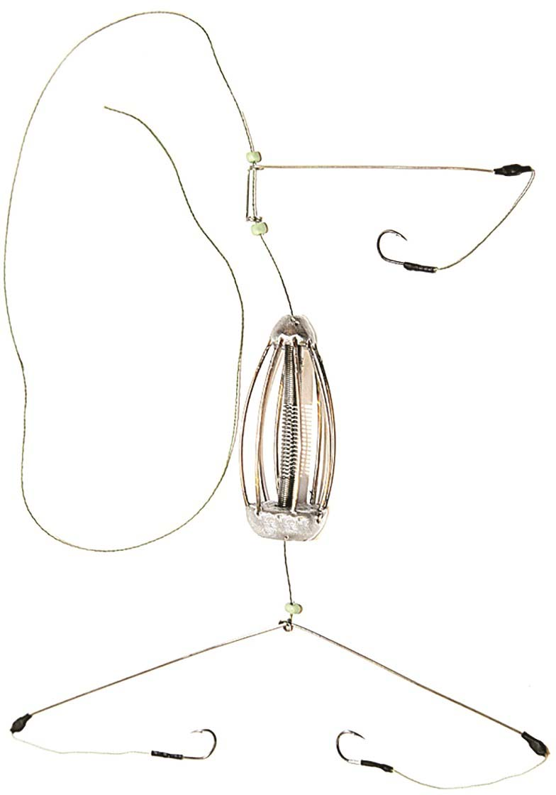 Кормушка для рыбы Монтаж К-3, оснащенная коромыслом и отводом, 80 г