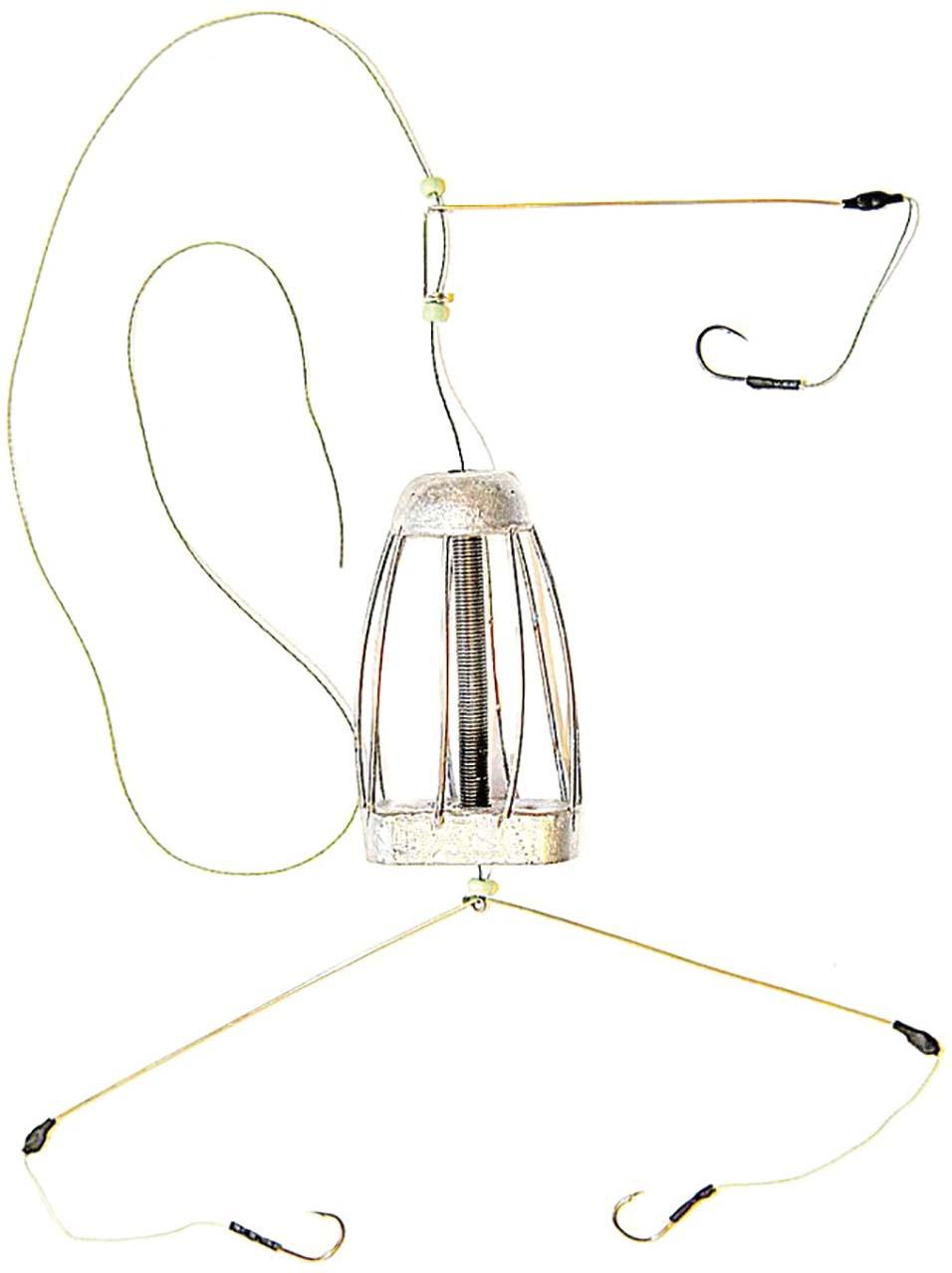 Кормушка для рыбы Монтаж ТК-3, оснащенная коромыслом и отводом, 30 г