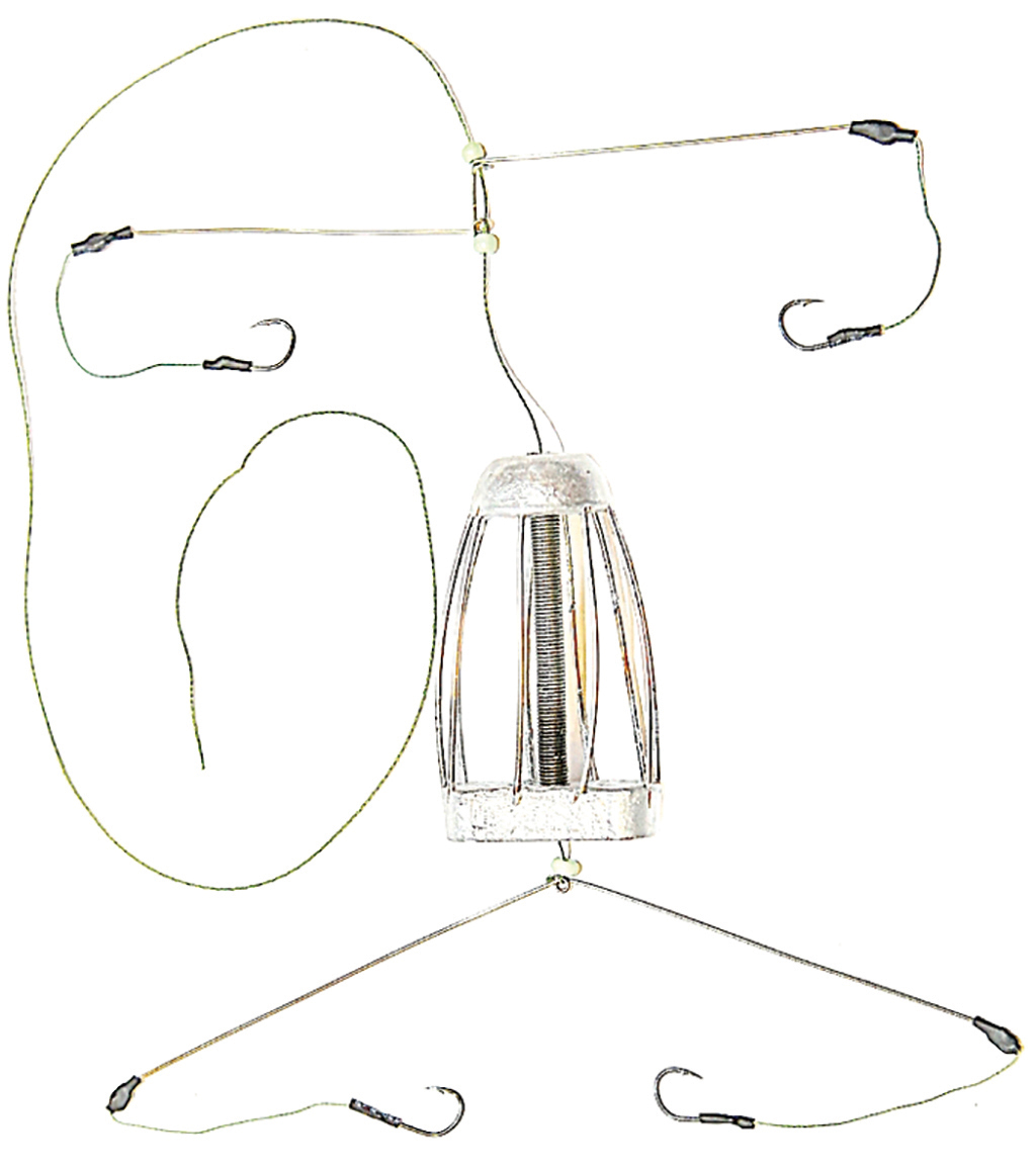 Кормушка для рыбы Монтаж ТК-4, оснащенная коромыслом и 2 отводами, 30 г