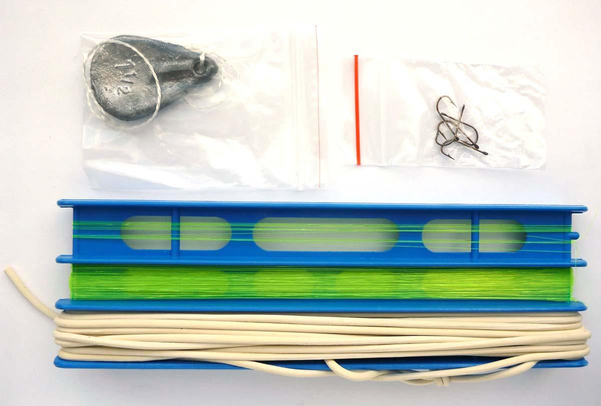 Донка оснащенная, с резиной, 2.5 мм