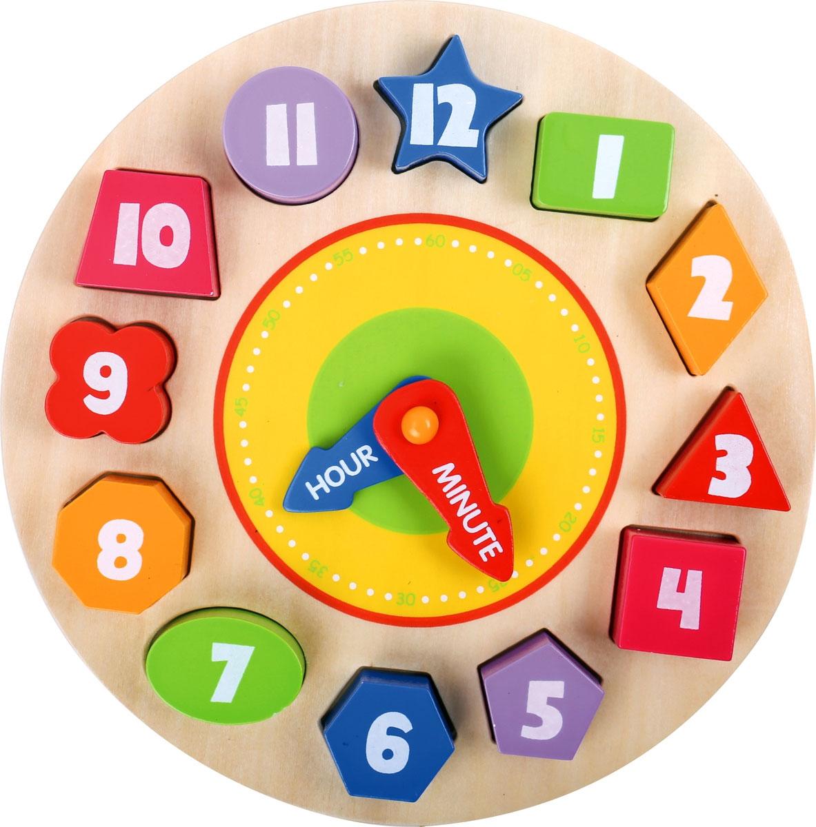 Tooky Toy Деревянные часы-пазлы TKA414-B