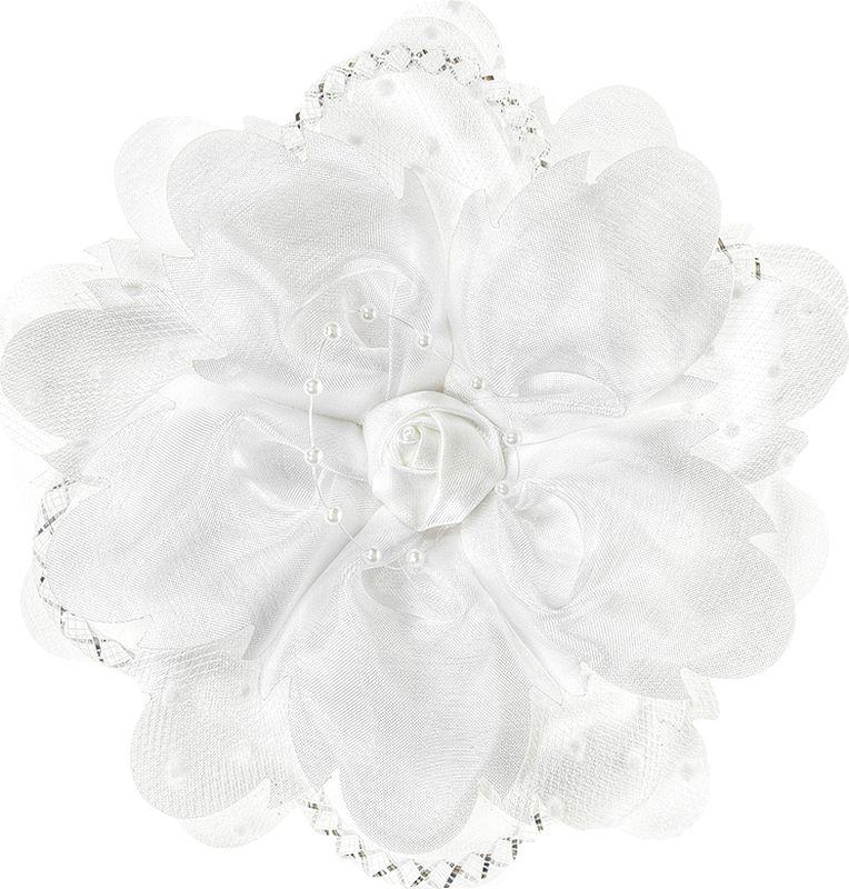 Бант для волос Arco Carino, цвет: белый. AC100