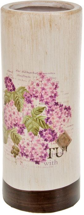 Ваза декоративная ArtHouse Гортензия, цвет: белый, мультиколор, высота 25,5 см ваза декоративная феникс презент высота 22 3 см