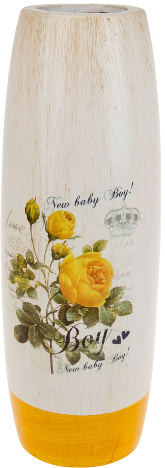 Ваза декоративная ArtHouse Куст розы, цвет: белый, мультиколор, высота 40 см. 60044