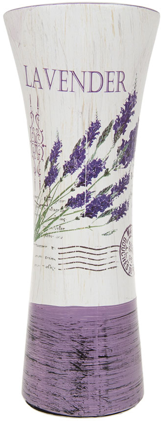 Ваза для цветов ArtHouse Лаванда, цвет: белый, сиреневый, высота 29 см вазы pavone ваза розы