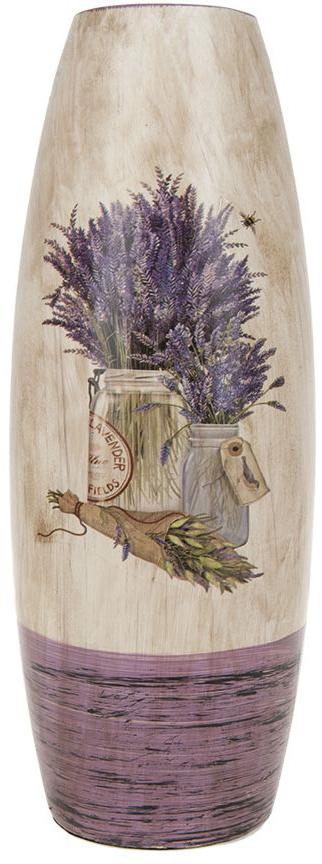 Ваза для цветов ArtHouse Букет лаванды, цвет: белый, сиреневый, высота 29,5 см ваза для цветов благоденствие