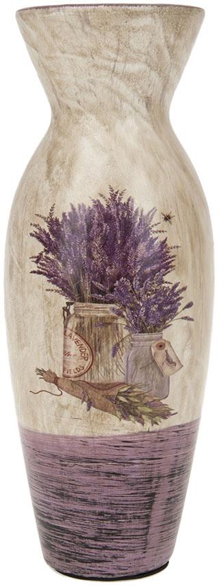 Ваза для цветов ArtHouse Букет лаванды, цвет: белый, сиреневый, высота 25 см. 70416 arti m ваза букет фантазия 25 см
