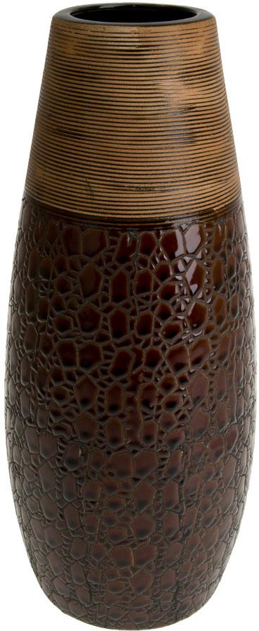 Ваза декоративная ArtHouse Шоколад, цвет: коричневый, высота 35,5 см