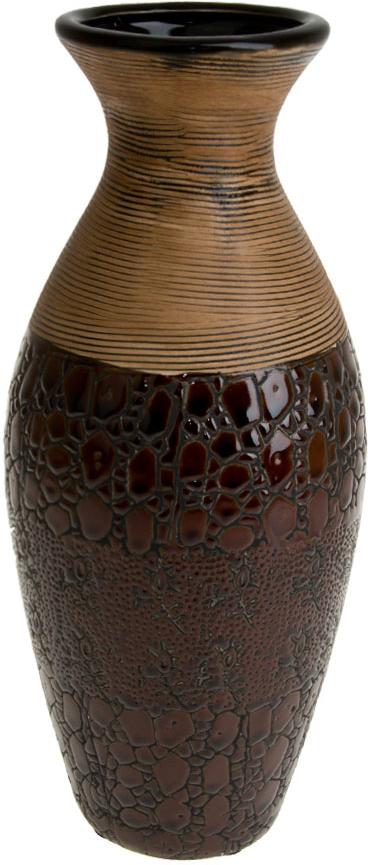 Ваза декоративная ArtHouse Шоколад, цвет: коричневый, высота 30 см ваза декоративная arthouse пастель цвет коричневый высота 39 см