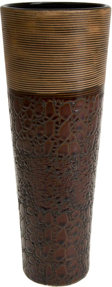 Ваза декоративная ArtHouse Шоколад, цвет: коричневый, высота 29,5 см