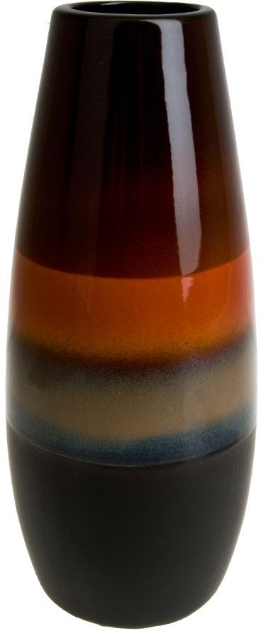 Ваза декоративная ArtHouse Шоколадная глазурь, цвет: коричневый, высота 35 см