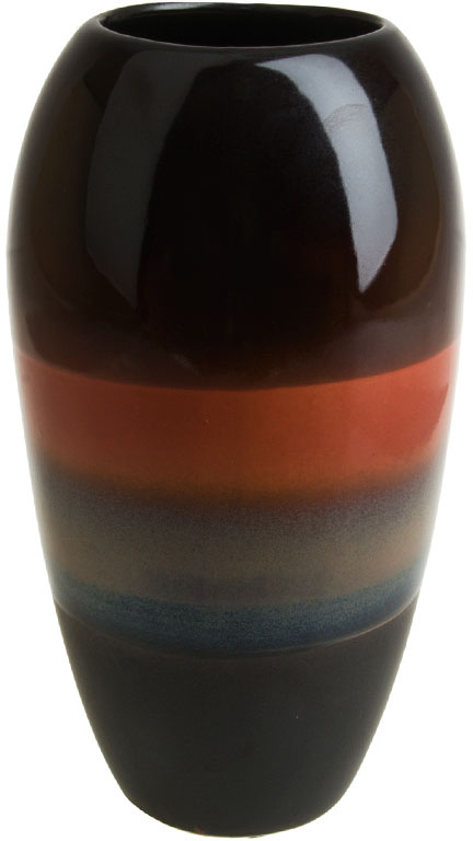 Ваза декоративная ArtHouse Шоколадная глазурь, цвет: коричневый, высота 26,5 см