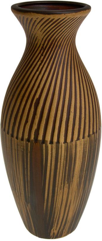 Ваза декоративная ArtHouse Шоколадный мусс, цвет: коричневый, высота 30 см ваза декоративная arthouse пастель цвет коричневый высота 39 см