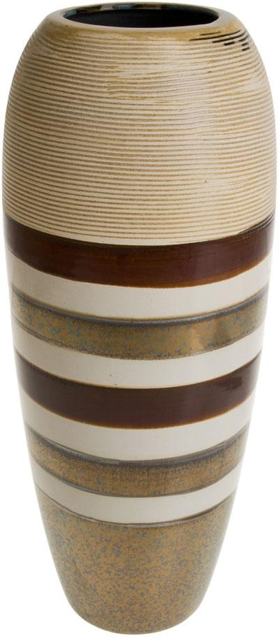 Ваза декоративная ArtHouse Шоколадная помадка, цвет: коричневый, высота 31 см ваза декоративная arthouse пастель цвет коричневый высота 39 см