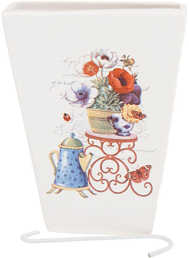 Ваза декоративная Nouvelle De France Сад, подвесная, цвет: белый, высота 14 см кружка nouvelle de france ирис с