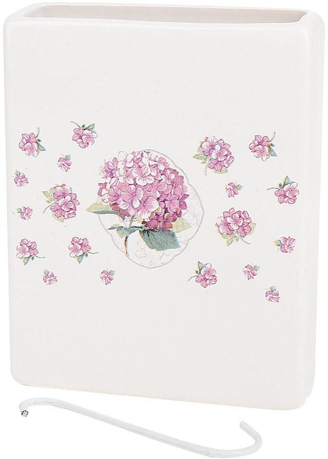 Ваза декоративная Nouvelle De France Розовая гортензия, подвесная, цвет: белый, высота 14 см кружка nouvelle de france ирис с
