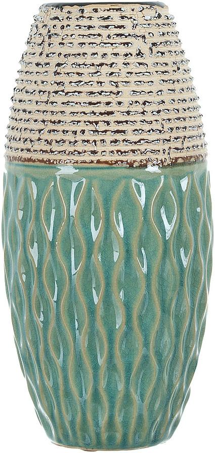 Ваза декоративная ENS Group Кэролайн, цвет: зеленый, высота 26 см