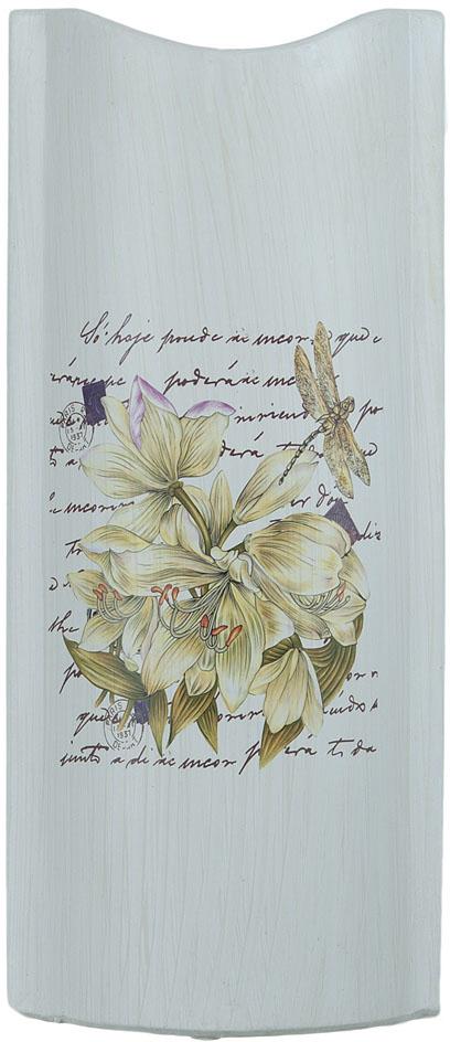 Ваза декоративная ENS Group Белая лилия, цвет: белый, мультиколор, высота 32 см
