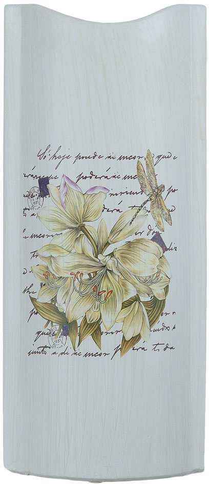 Ваза декоративная ENS Group Белая лилия, цвет: белый, мультиколор, высота 32 см ens group декоративная свеча devereux 6х12 см