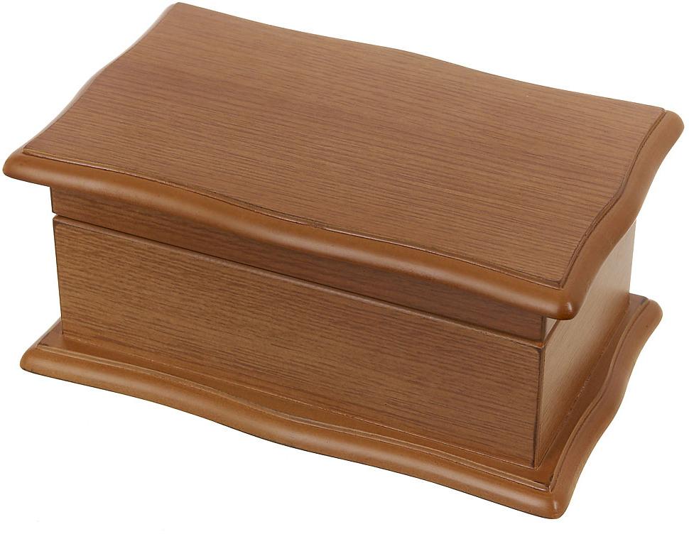 Шкатулка для ювелирных украшений ENS Group Шарм, цвет: коричневый, 21 х 13 х 9,5 см игрушка triol столбик и туннель цвет кремовый коричневый 24 х 21 х 23 см