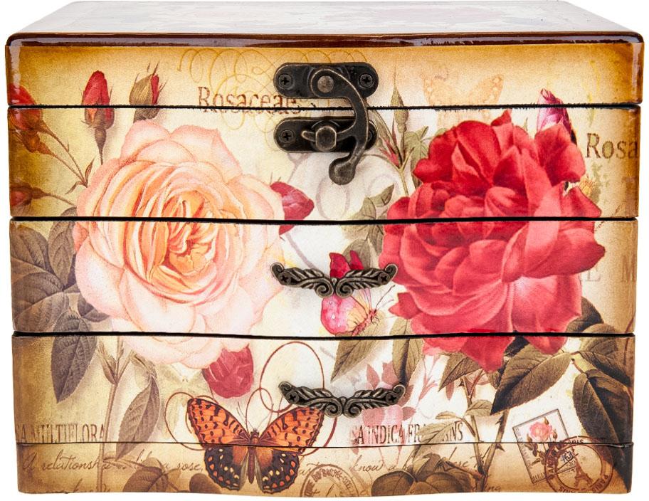 Шкатулка для ювелирных украшений ENS Group Розовый сад, 22,5 х 16,5 х 17,5 см