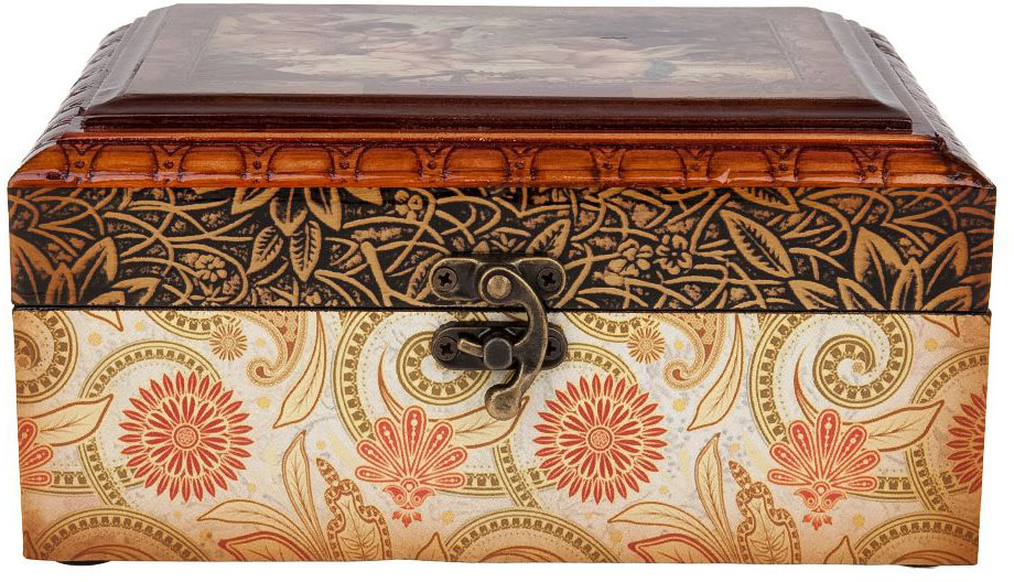 Шкатулка для ювелирных украшений ENS Group Амуры, цвет: коричневый, 19,5 х 15 х 10 см игрушка triol столбик и туннель цвет кремовый коричневый 24 х 21 х 23 см