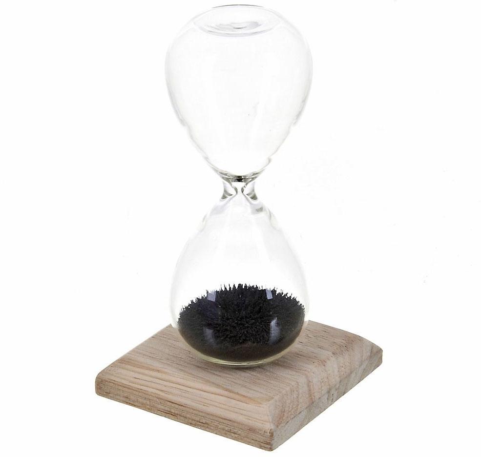 Часы песочные ENS Group, с магнитом, цвет: прозрачный, на 1 минуту, высота 12 см