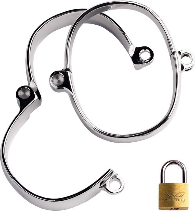 TOYFA MetalНаручники, цвет:  серебристый, 4,5х5,5 см.  717114 TOYFA Metal
