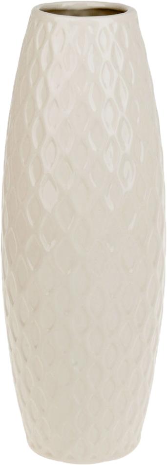 Ваза декоративная ArtHouse Пастель, цвет: белый, высота 39 см ваза декоративная arthouse пастель цвет коричневый высота 39 см