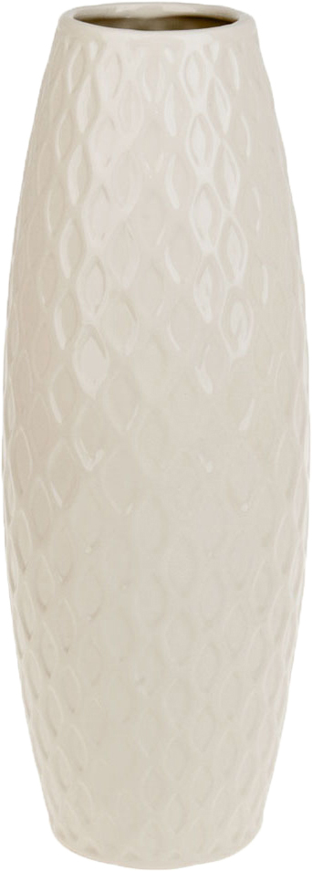 Ваза декоративная ArtHouse Пастель, цвет: белый, высота 39 см ваза декоративная helga 1 стекло 16х20 см