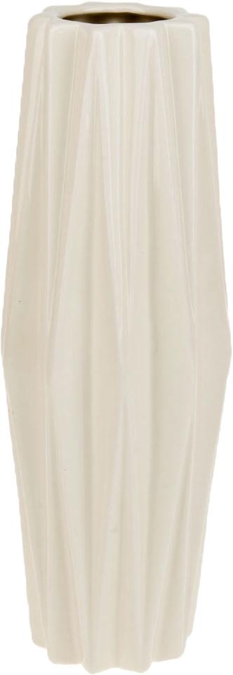 Ваза декоративная ArtHouse Пастель, цвет: белый, высота 33 см
